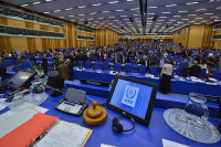 The delegation of the Republic of Belarus takes part in the 63rd session of the IAEA General Conference