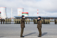 The military personnel of the Ministry of Internal Affairs internal troops took up combat duty to guard Belarusian NPP