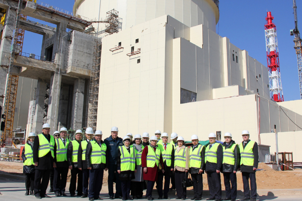 Deputies watched the construction of Belarusian NPP
