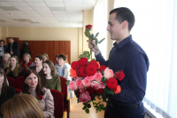 Women working for Belarusian NPP accepted congratulations